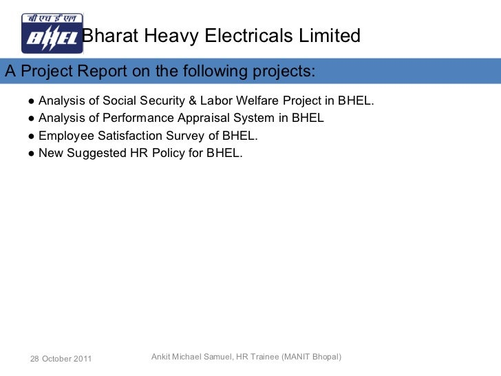 employee satisfaction of bhel Website for bhel, hyderabad india  employee corner  i n order to ensure the continued satisfaction of customers regarding the performance of bhel pumps,.