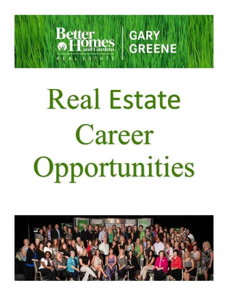 Real Estate   CareerOpportunities