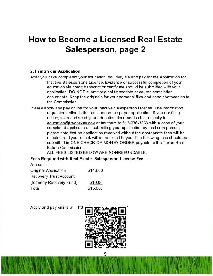 ... 9. How To Become A Licensed Real Estate ...