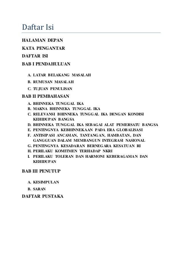 Contoh Makalah Integrasi Nasional Dalam Bingkai Bhinneka Tunggal Ika