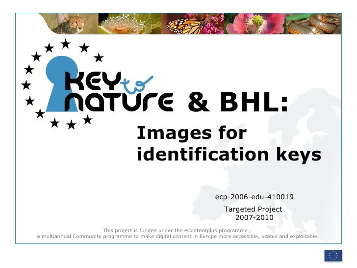 Images for identification keys ecp-2006-edu-410019 Targeted Project  2007-2010 & BHL: