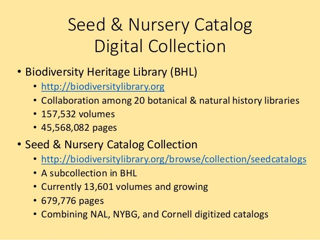 Free Online Historical Seed & Nursery Catalog Collection
