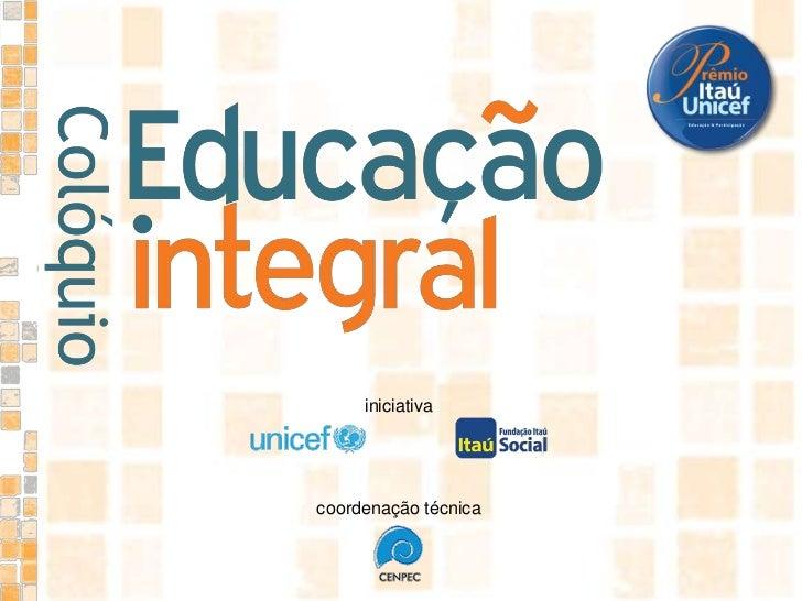 iniciativa<br />coordenação técnica<br />