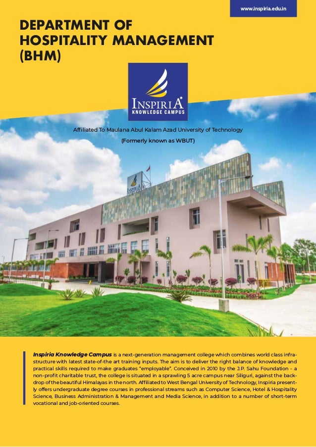Inspiria Knowledge Campus is a next-generation management college which combines world class infra- structure with latest ...