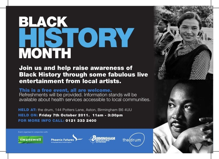 BLACKHISTORYMONTH Join us and help raise awareness of Black History through some fabulous live entertainment from local ar...