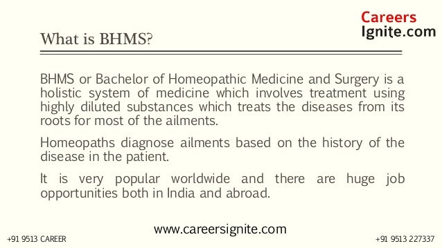 BHMS - Bachelor of Homeopathic Medicine and Surgery Courses, Colleges, Eligibility Slide 2