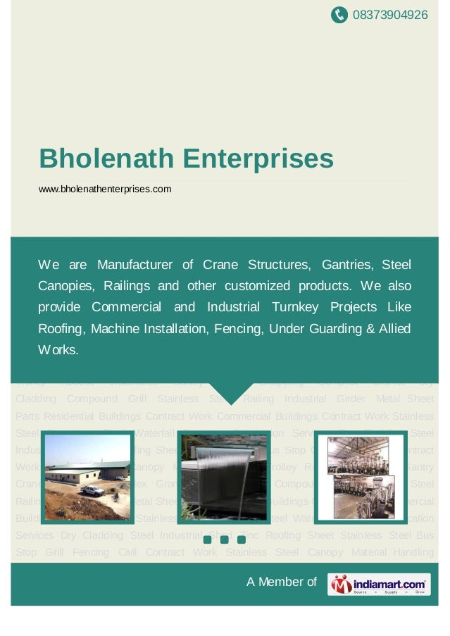 08373904926A Member ofBholenath Enterpriseswww.bholenathenterprises.comStainless Steel Structures Steel Waterfall Structur...