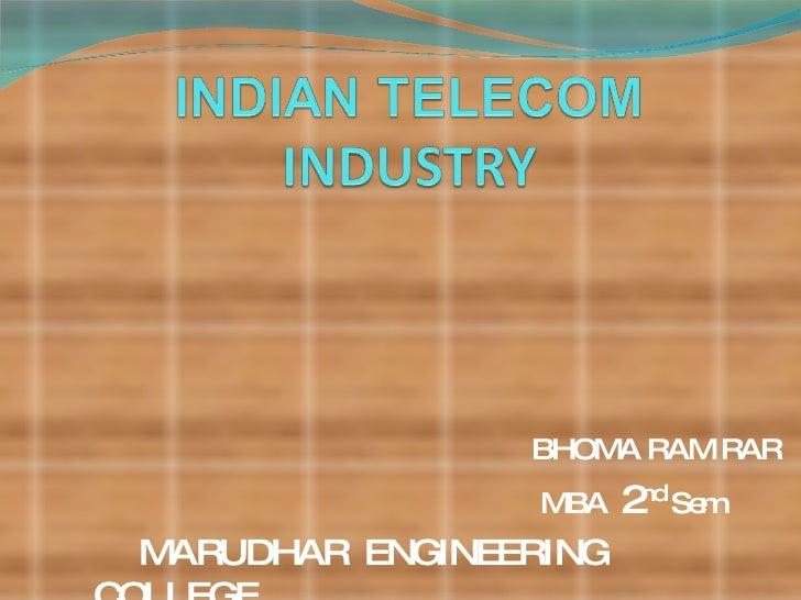 BHOMA RAM RAR MBA  2 nd  Sem MARUDHAR  ENGINEERING  COLLEGE