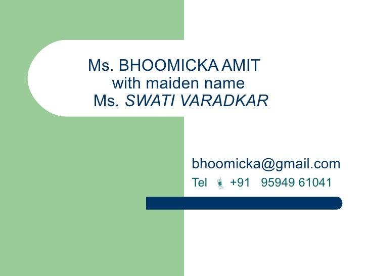 bhoomicka resume