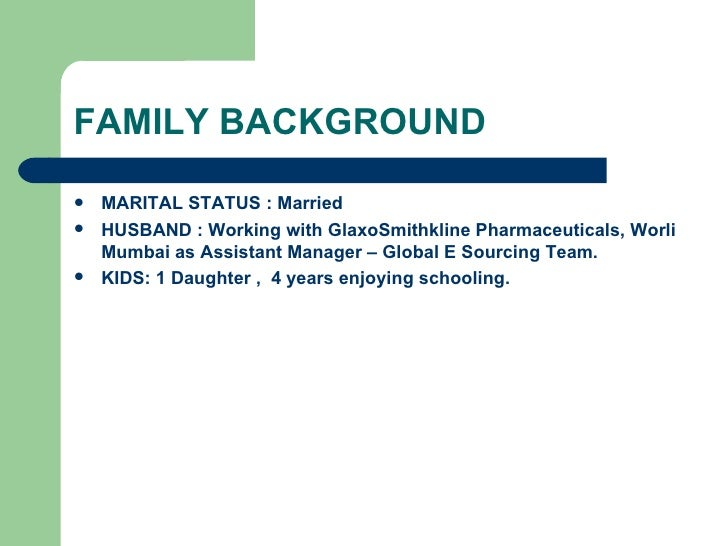 family background - Family Background In Resume Sample