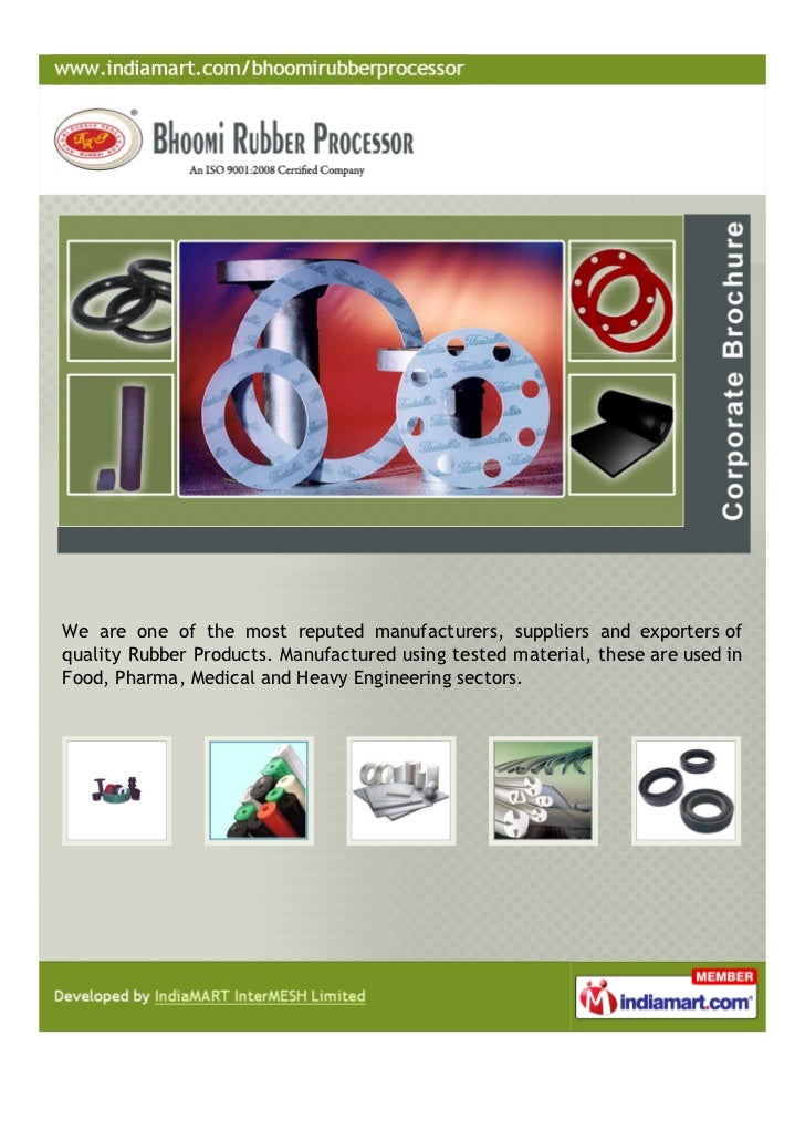 We are one of the most reputed manufacturers, suppliers and exporters ofquality Rubber Products. Manufactured using tested...