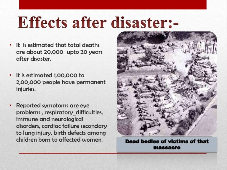 Case study bhopal plant disaster