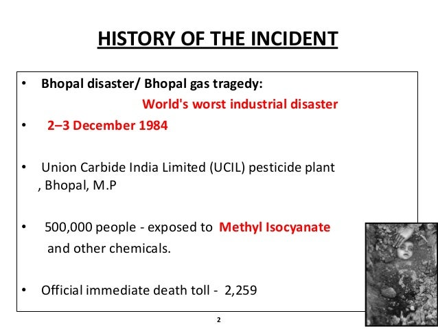 The Bhopal Gas Tragedy