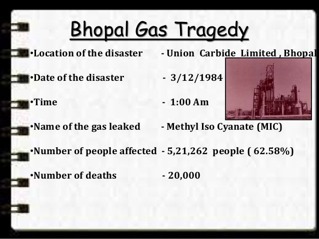 an introduction to the tragedy at bhopal india The bhopal tragedy: its influence on process and community introduction 11 bhopal's immediate aftermath: media coverage issue headlines were: 'bhopal,', 'india's chemical tragedy: death toll at bhopal still rising,' (heylin, 1984.