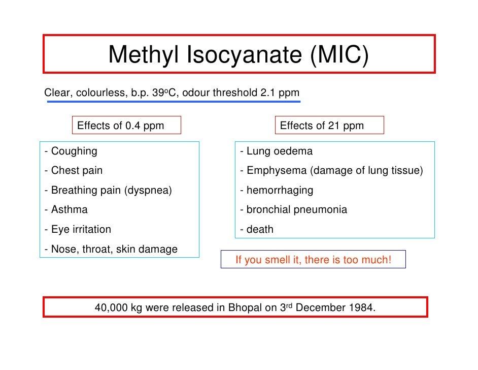 methyl isocyanate Gallery