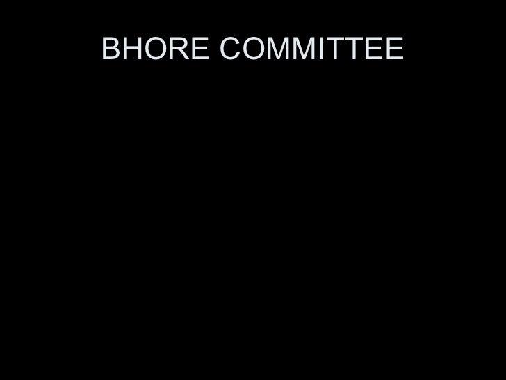 BHORE COMMITTEE