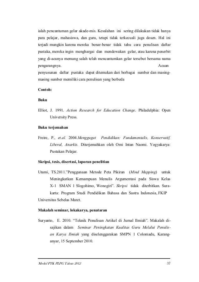 Contoh Daftar Pustaka Nama Gelar Contoh Ik