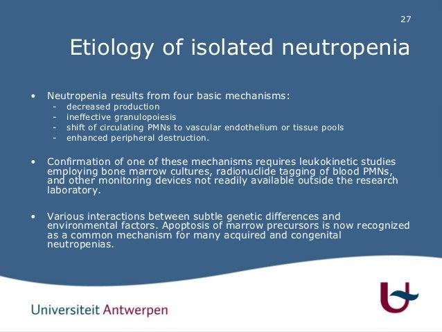 Leukopenia Etiology