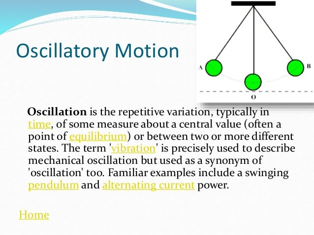 Science presentation on motion home 25 oscillatory motion ccuart Choice Image