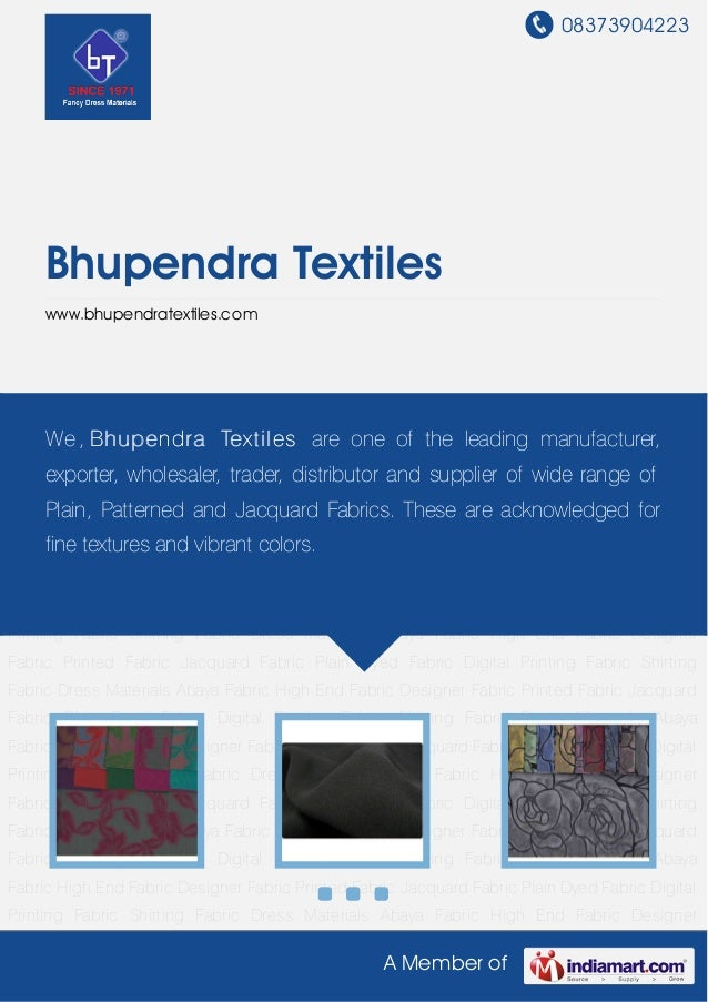 08373904223A Member ofBhupendra Textileswww.bhupendratextiles.comDress Materials Abaya Fabric High End Fabric Designer Fab...