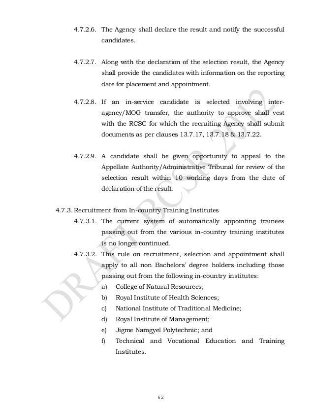 bhutan civil service regulations 2012