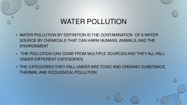 conclusion on water pollution This might motivate them to work more efficiently conclusion solving water pollution is a complex issue and over the years traditional policy has failed to give us any viable solutions self-governing and self-organized institutions stand to provide a reliable solution to the water pollution problem however.