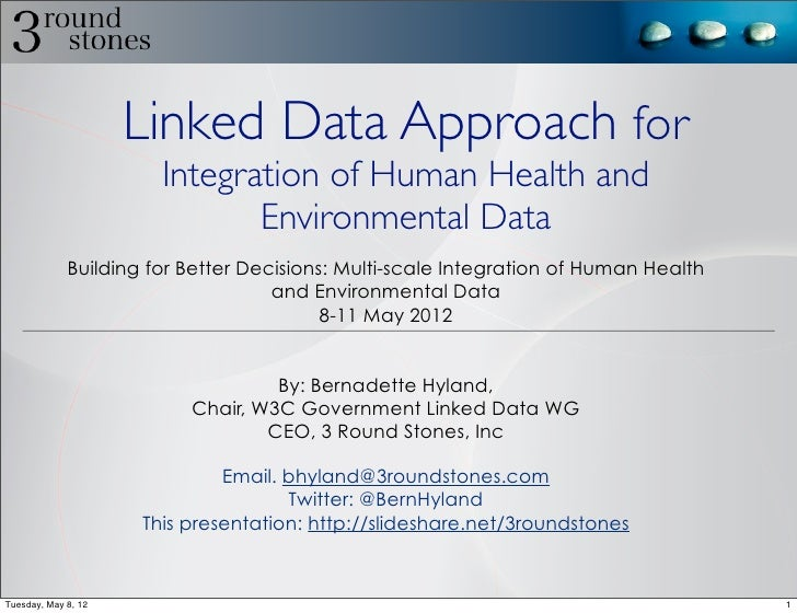 Linked Data Approach for                       Integration of Human Health and                              Environmental ...
