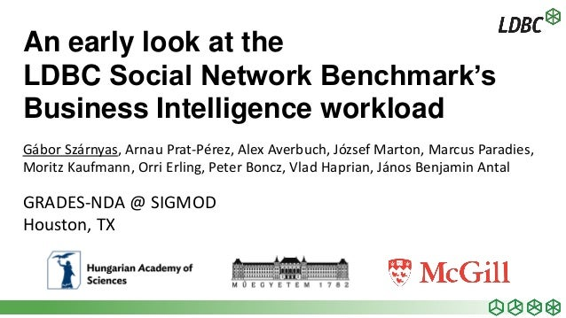 An early look at the LDBC Social Network Benchmark's Business Intelligence workload Gábor Szárnyas, Arnau Prat-Pérez, Alex...