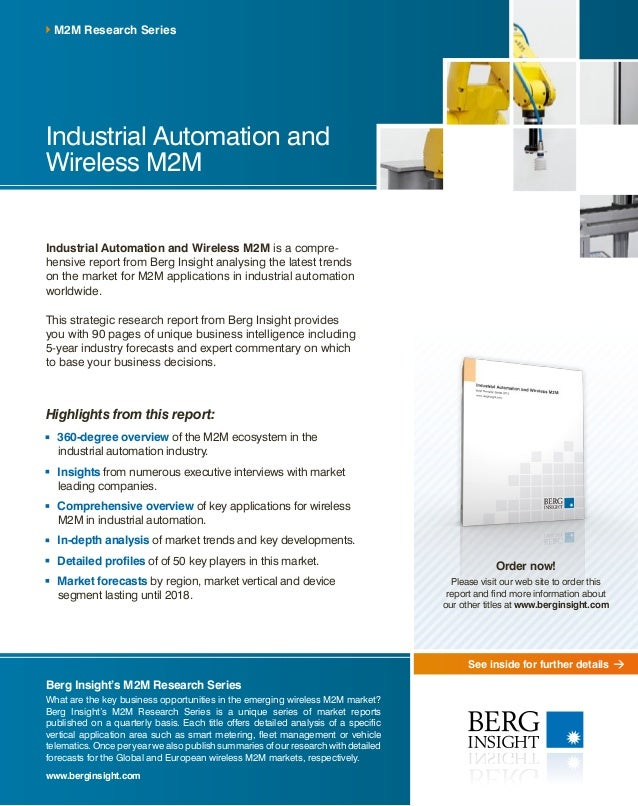 See inside for further details Industrial Automation and Wireless M2M Industrial Automation and Wireless M2M is a compre- ...