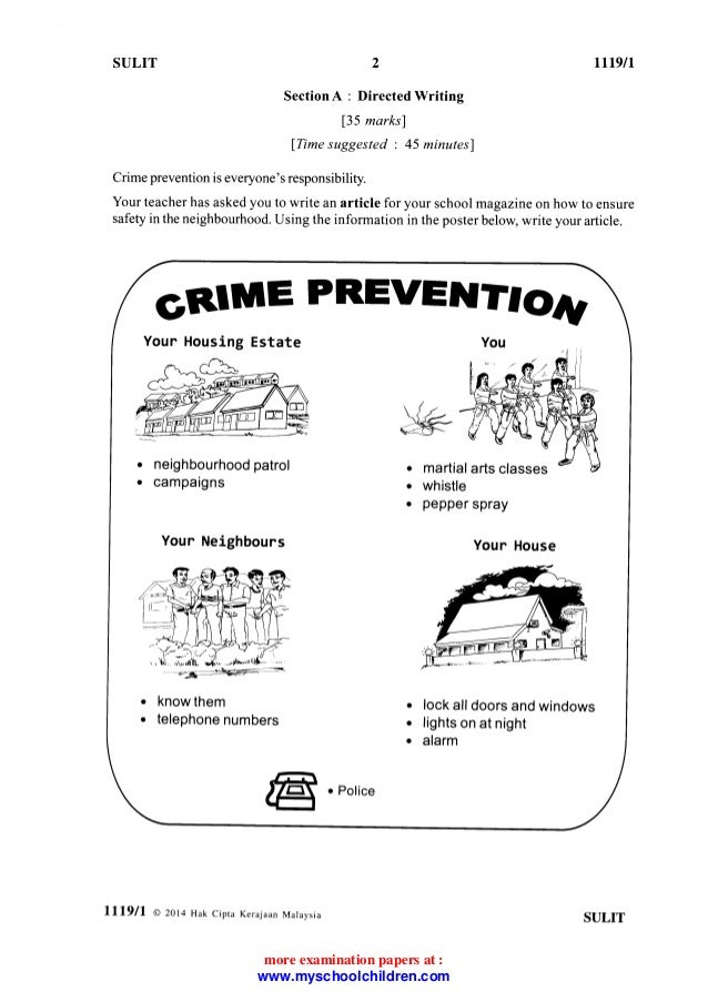 Directed writing article crime prevention month