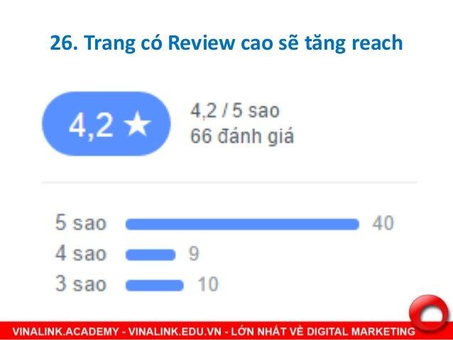 27. Trang có tỷ lệ phản hồi review Tỷ lệ phản hồi review cao sẽ tăng reach