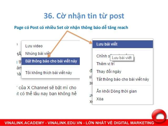 37. Checkin Page có nhiều checkin cũng tăng reach