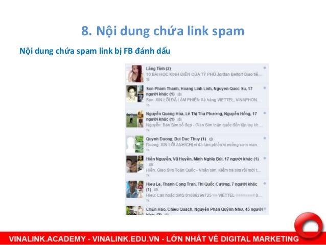 9. Link tới các website cam, lừa đảo