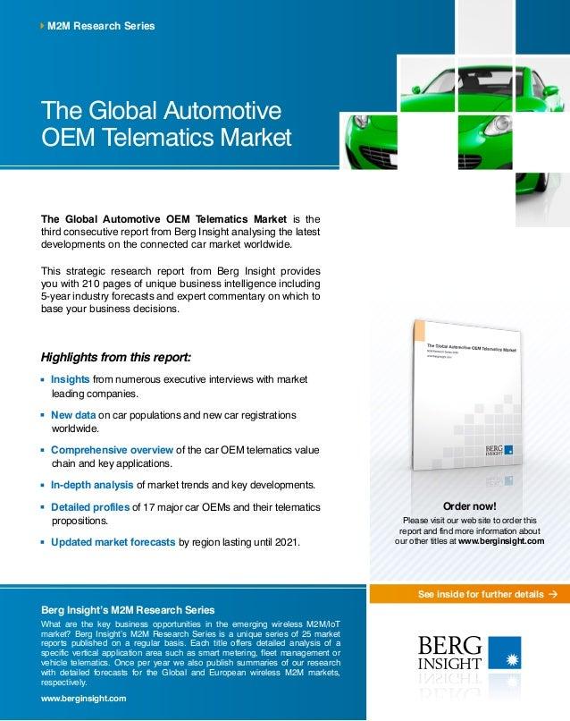 The Global Automotive Oem Telematics Market