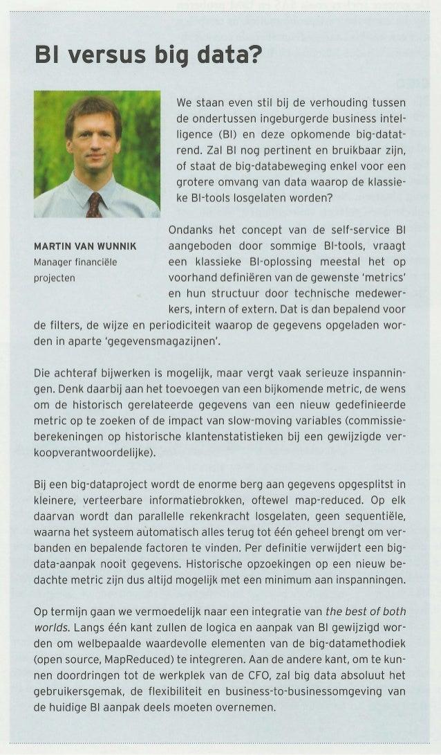 FD Magazine: Bi versus Big Data ?