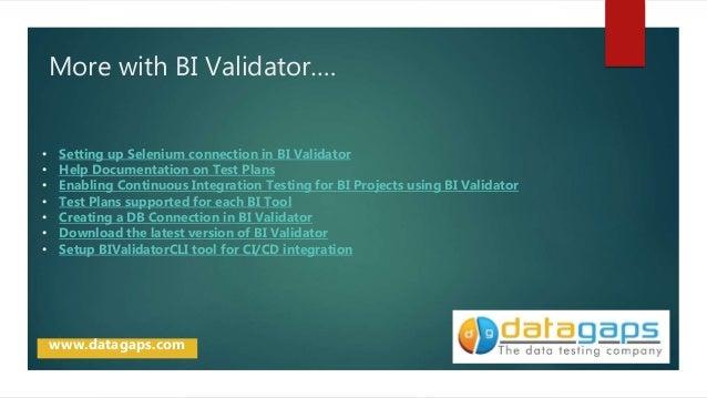 BI Validator Usecase - Scheduler and Notification