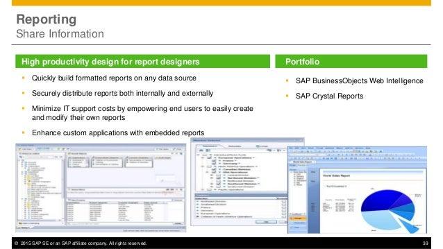 A strategic and technical guide to the most uptodate SAP BI roadmap – Reporting Roadmap