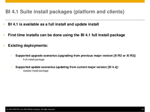 the 2015 guide to sap businessobjects bi 4 1 improvements for managin rh slideshare net