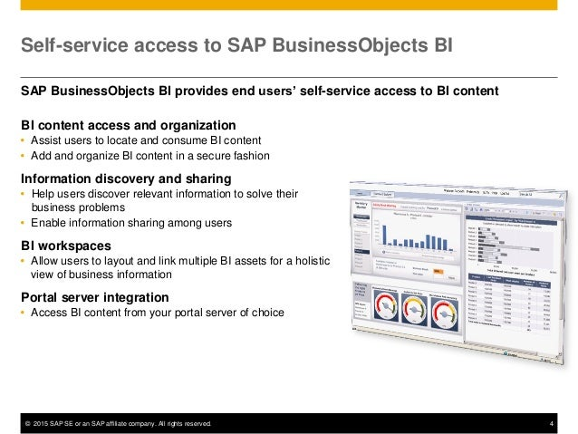 the 2015 guide to sap businessobjects bi 4 1 improvements for managin rh slideshare net SAP BusinessObjects Dashboards 4.0 SAP Business Intelligence
