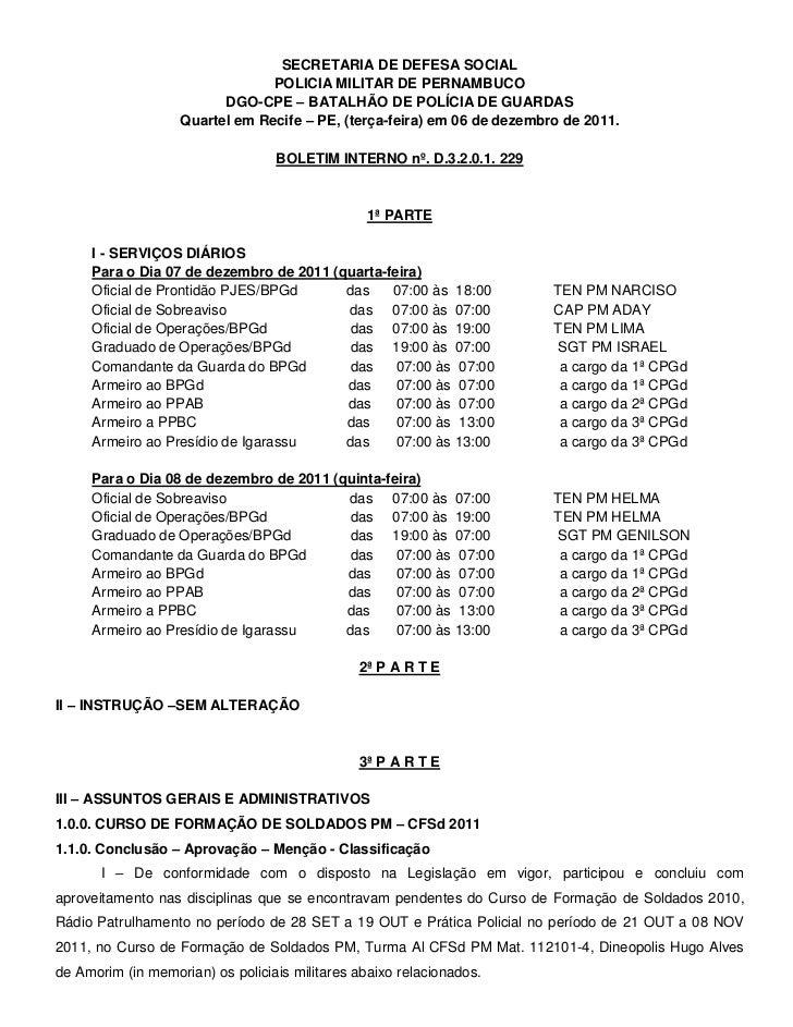SECRETARIA DE DEFESA SOCIAL                                POLICIA MILITAR DE PERNAMBUCO                         DGO-CPE –...
