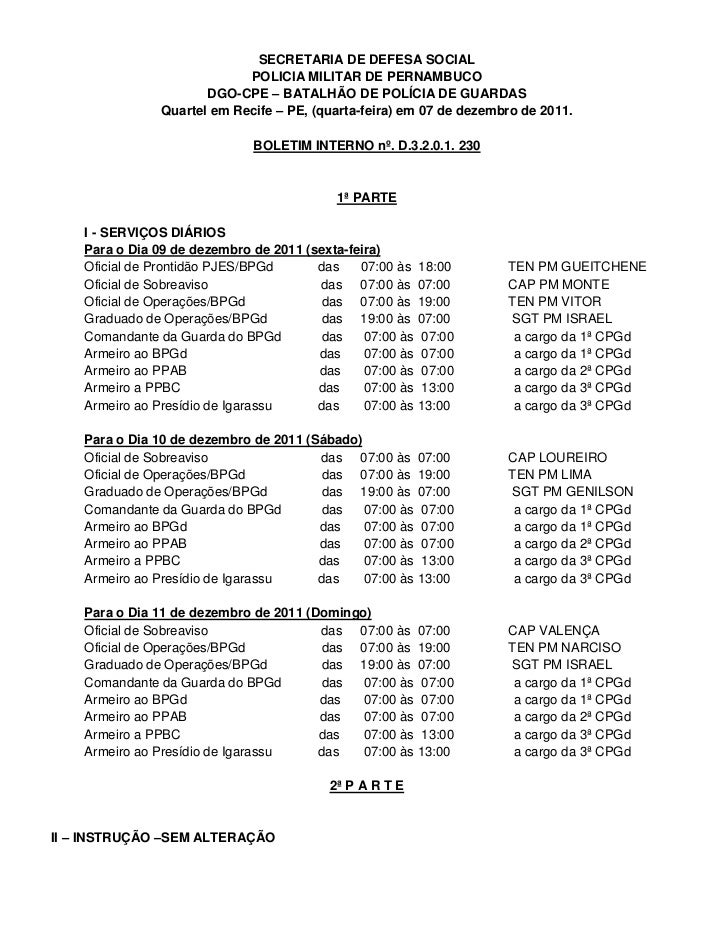 SECRETARIA DE DEFESA SOCIAL                             POLICIA MILITAR DE PERNAMBUCO                       DGO-CPE – BATA...