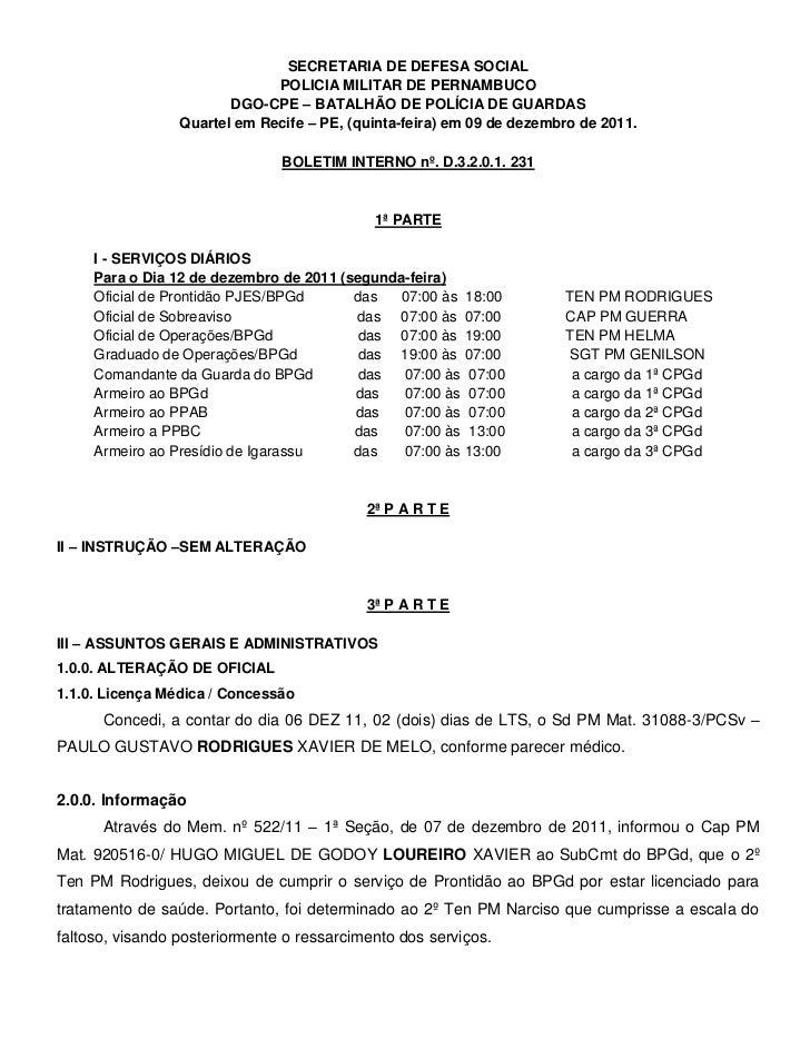 SECRETARIA DE DEFESA SOCIAL                              POLICIA MILITAR DE PERNAMBUCO                        DGO-CPE – BA...