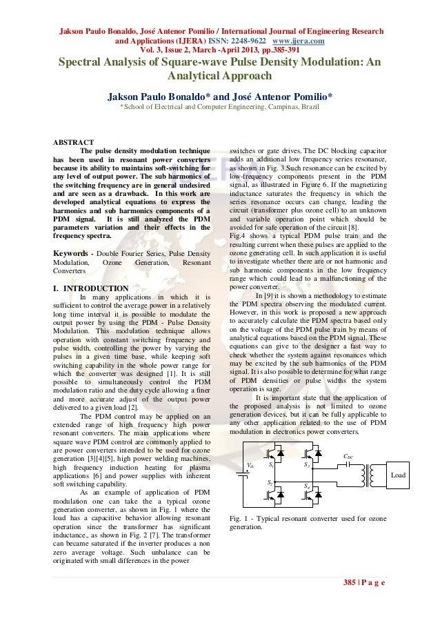 Jakson Paulo Bonaldo, José Antenor Pomilio / International Journal of Engineering Research                 and Application...