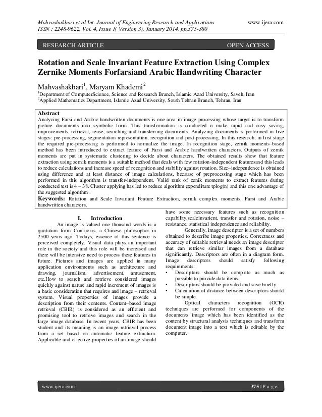 Mahvashakbari et al Int. Journal of Engineering Research and Applications ISSN : 2248-9622, Vol. 4, Issue 1( Version 3), J...