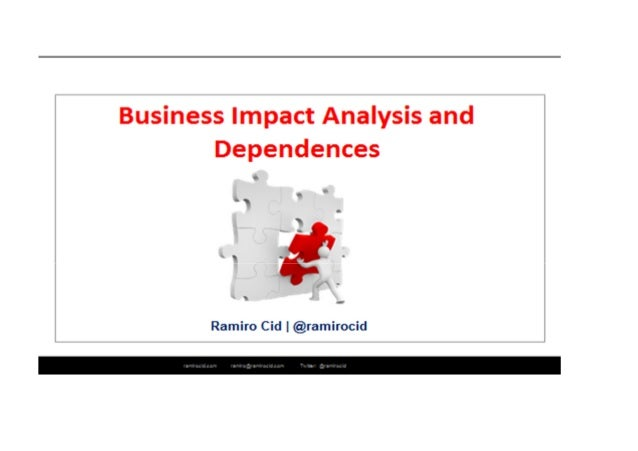 Bia  Example Of Business Impact Analysis And Dependencies