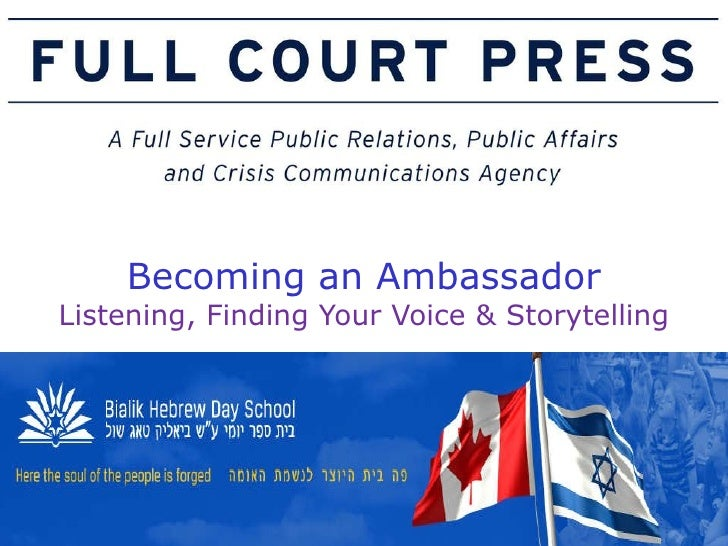 Becoming an Ambassador Listening, Finding Your Voice & Storytelling