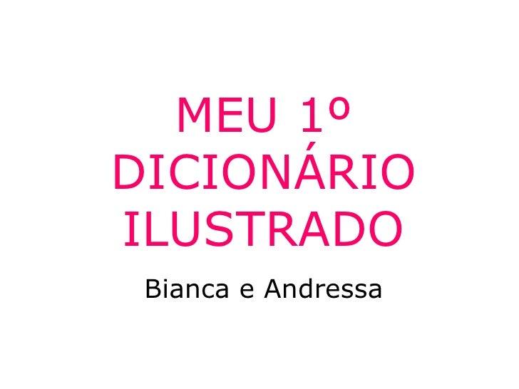 MEU 1º DICIONÁRIO ILUSTRADO Bianca e Andressa
