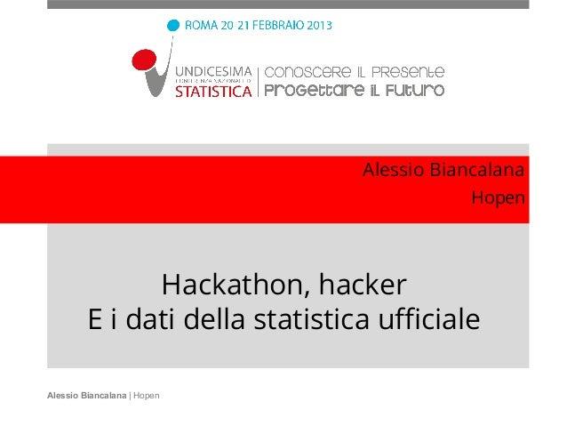 Alessio Biancalana                                             Hopen               Hackathon, hacker         E i dati dell...