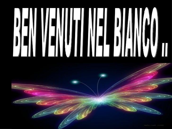 BEN VENUTI NEL BIANCO ..