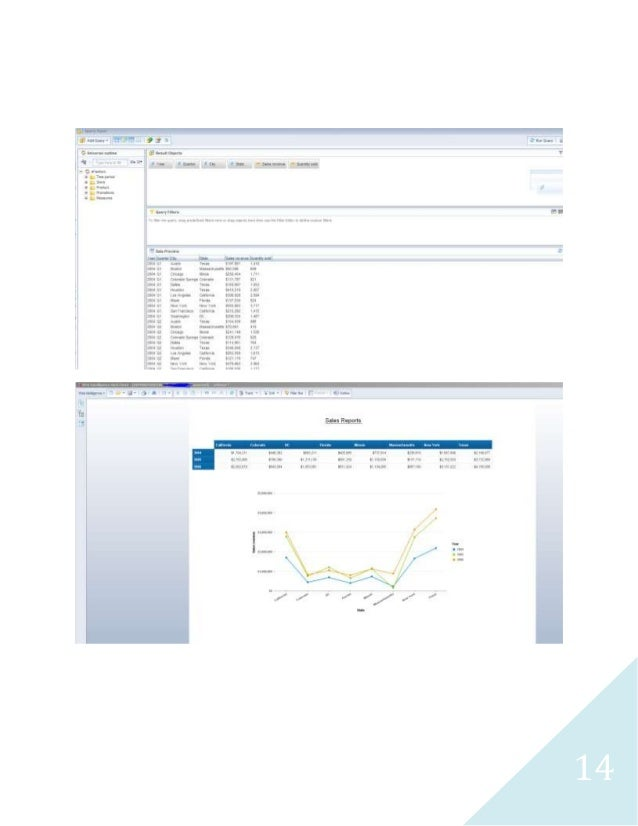 obiee sle reports oracle business intelligence